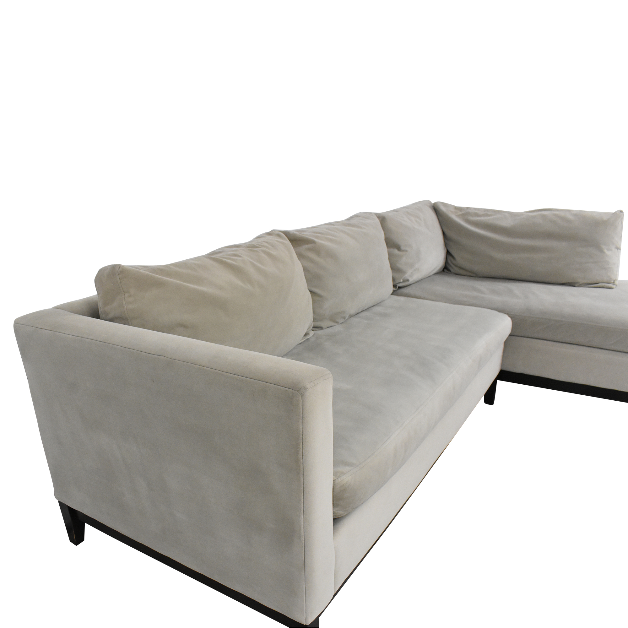 West Elm West Elm Blake Two Piece Chaise Sectional grey