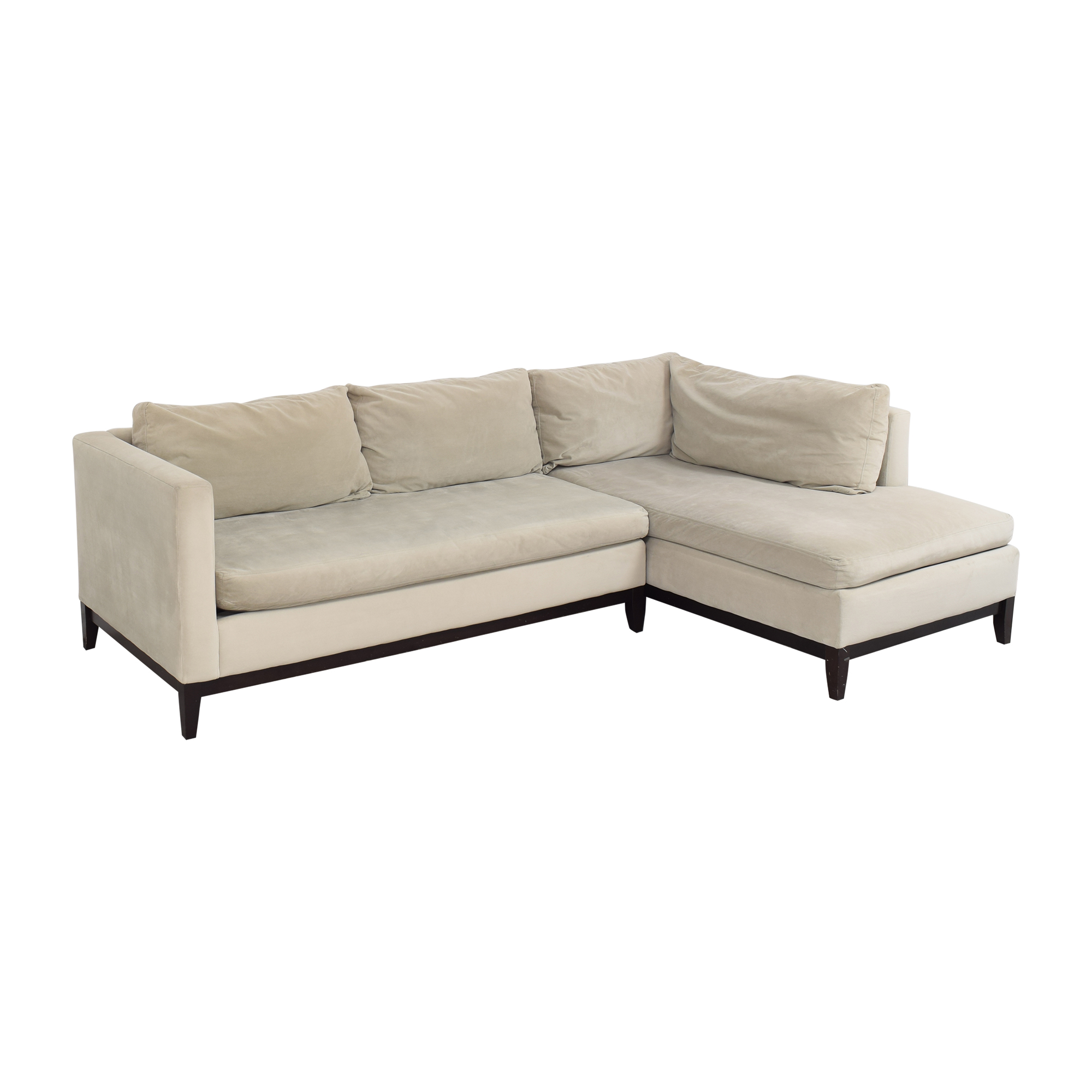 West Elm West Elm Blake Two Piece Chaise Sectional on sale