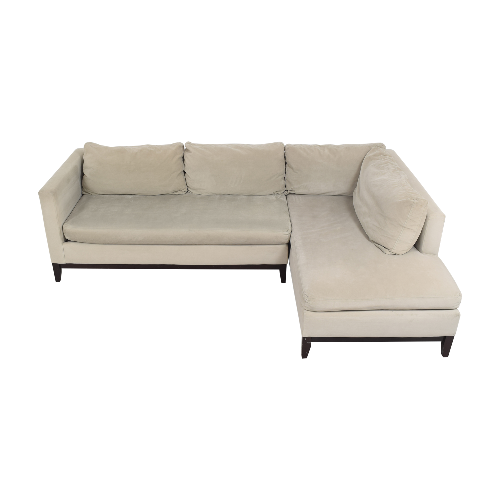 shop West Elm Blake Two Piece Chaise Sectional West Elm Sectionals