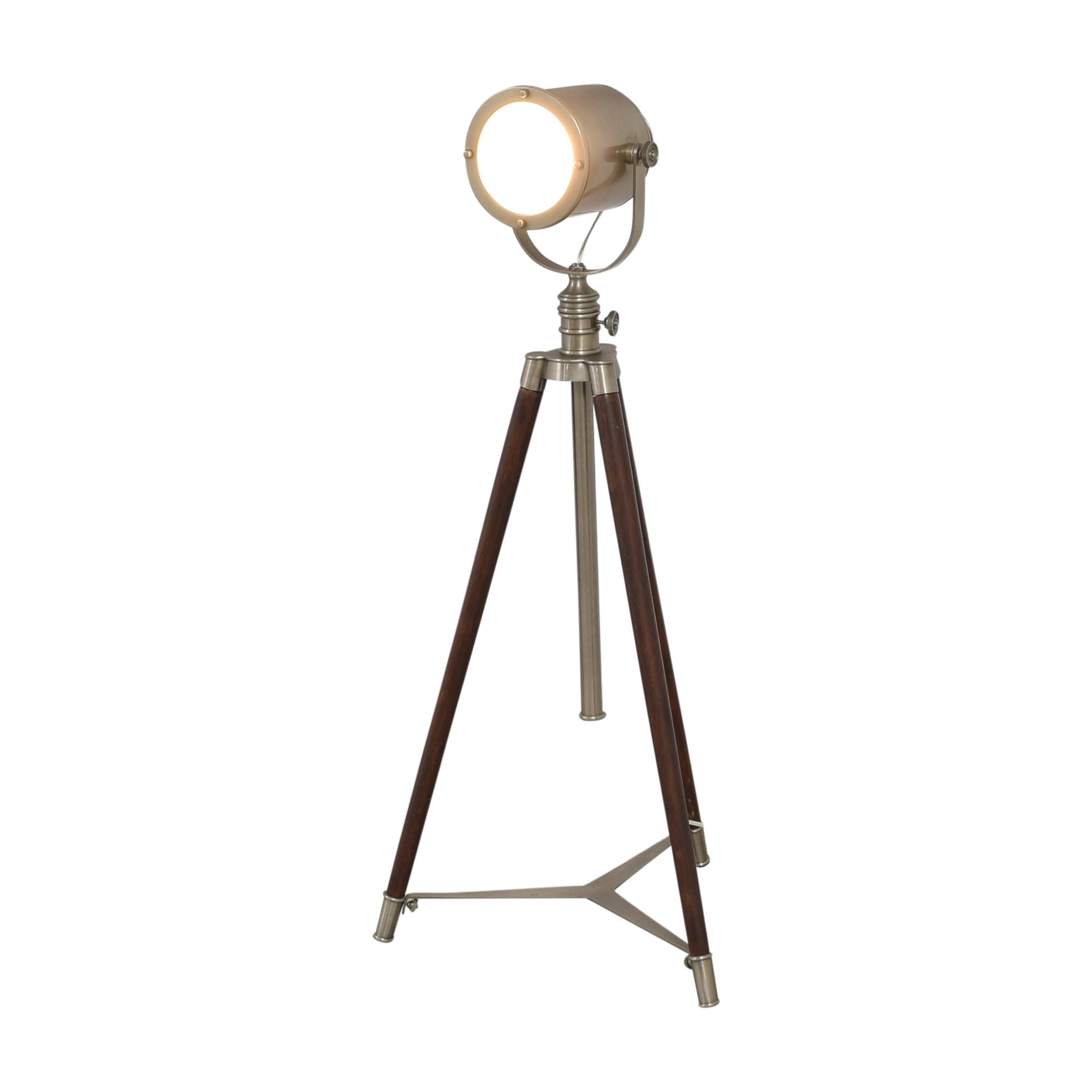 Pottery Barn Pottery Barn Photographer's Adjustable Tripod Floor Lamp brown & silver