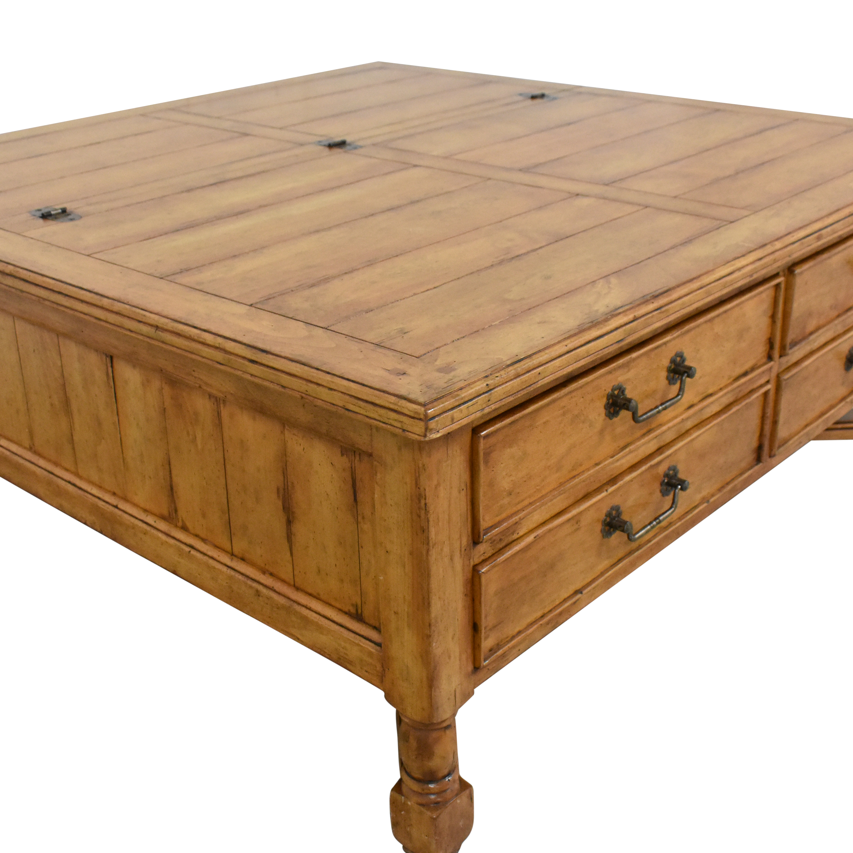 Bausman Square Storage Coffee Table sale