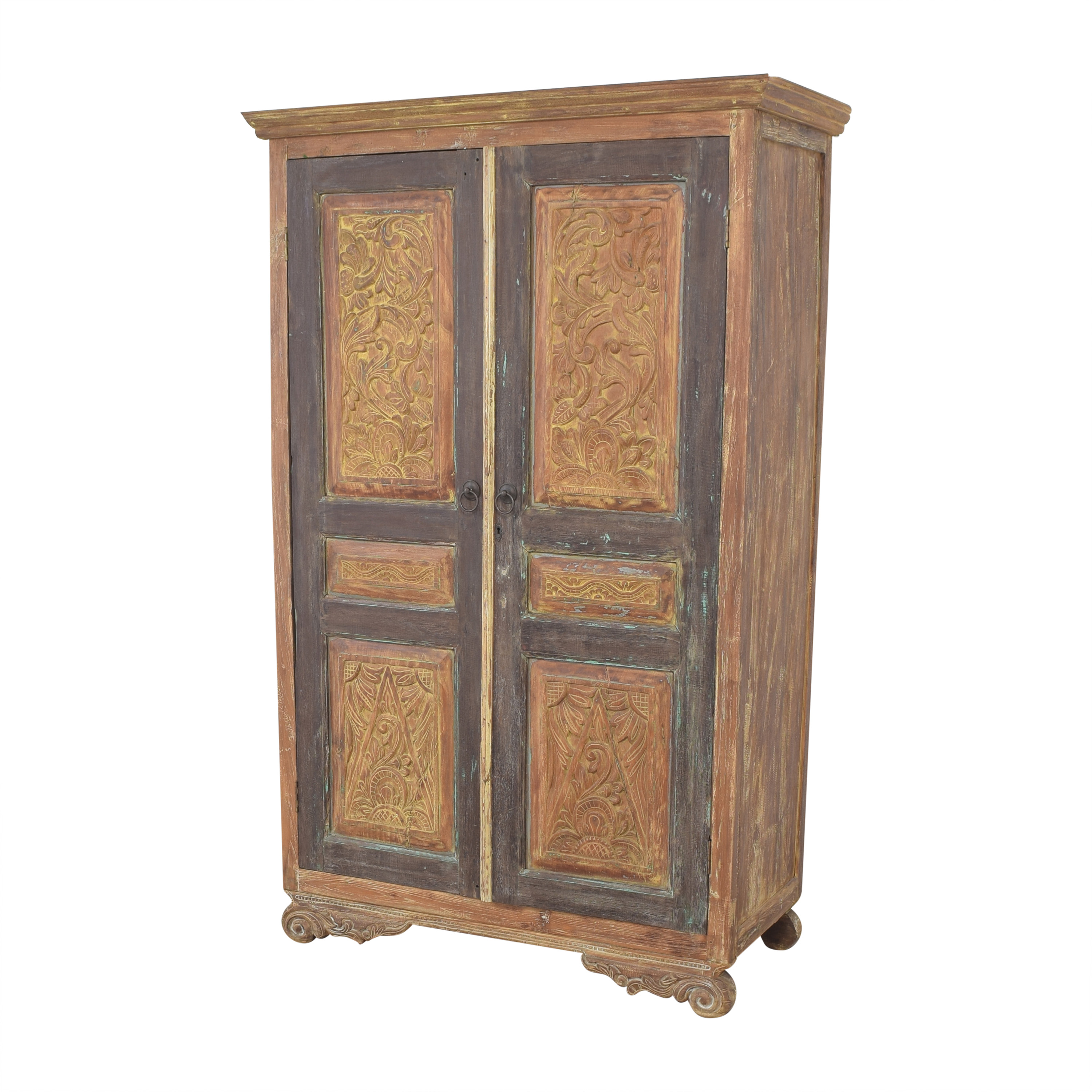 Rustic Vintage-Style Armoire used