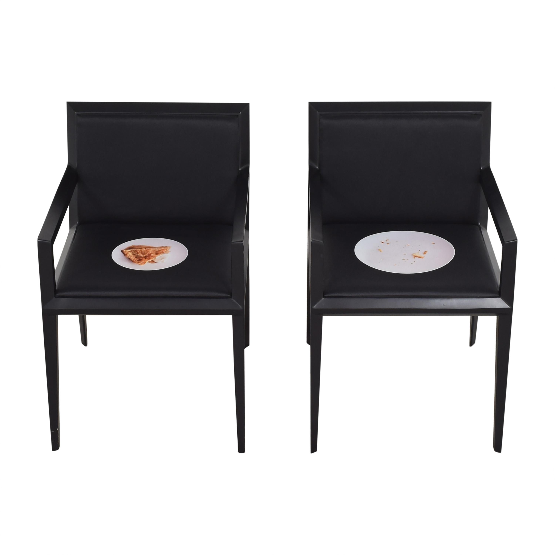 Bernhardt Bernhardt Custom Graphic Whisper Arm Chairs for sale