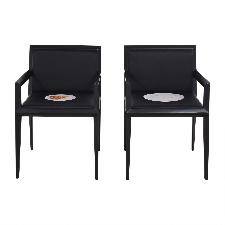 Bernhardt Bernhardt Custom Graphic Whisper Arm Chairs nj