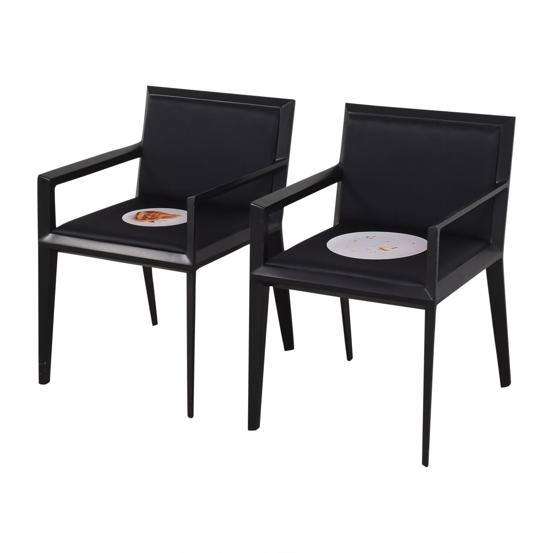 Bernhardt Bernhardt Custom Graphic Whisper Arm Chairs Dining Chairs