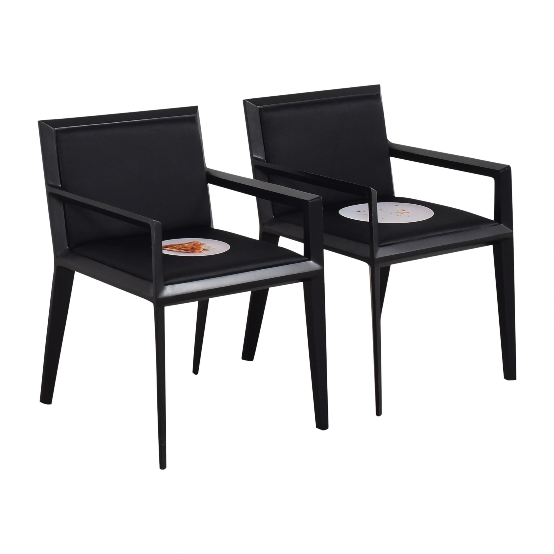 Bernhardt Bernhardt Custom Graphic Whisper Arm Chairs pa