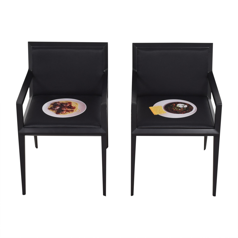 Bernhardt Custom Graphic Whisper Arm Chairs / Chairs