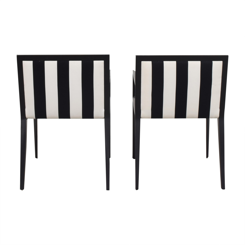 Bernhardt Bernhardt Custom Graphic Whisper Arm Chairs discount