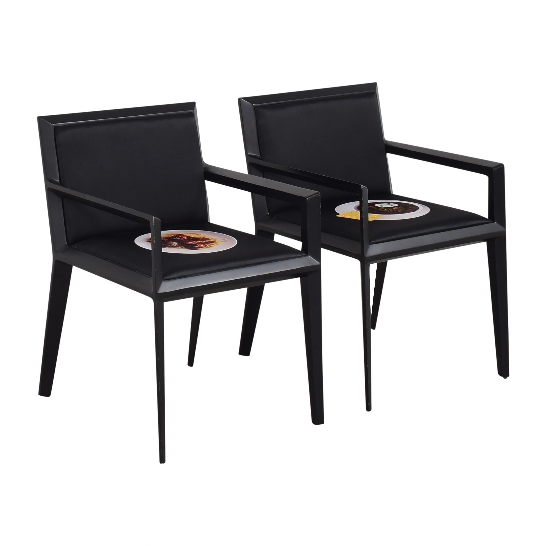 Bernhardt Custom Graphic Whisper Arm Chairs sale
