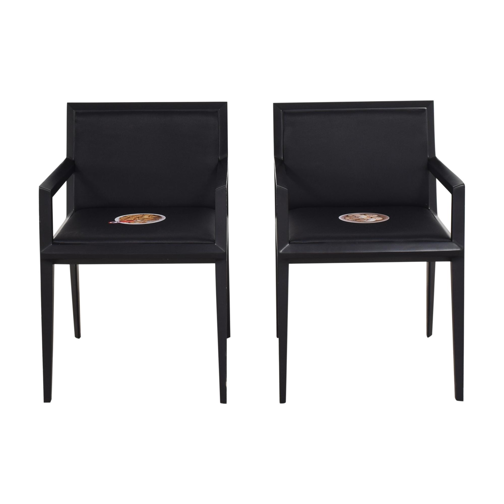 Bernhardt Bernhardt Custom Graphic Whisper Arm Chairs on sale