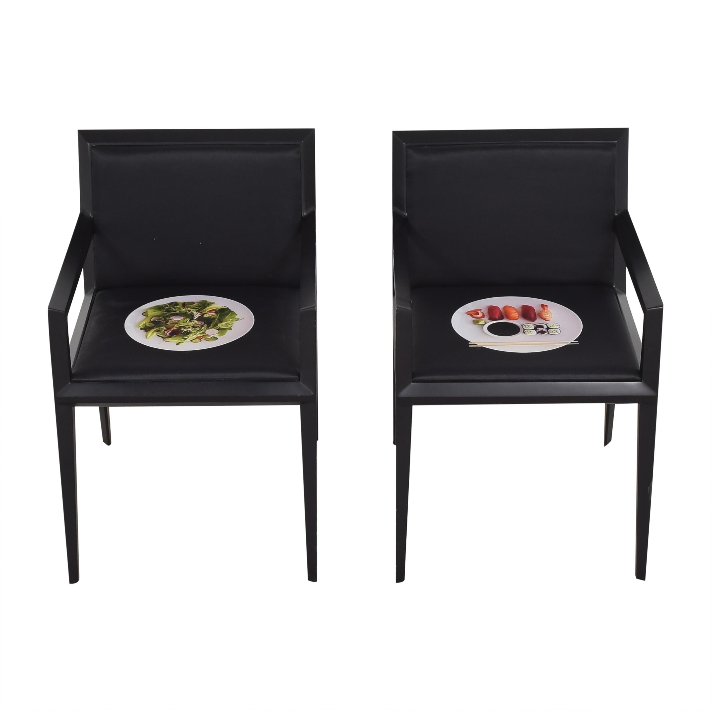 Bernhardt Bernhardt Custom Graphic Whisper Arm Chairs ma