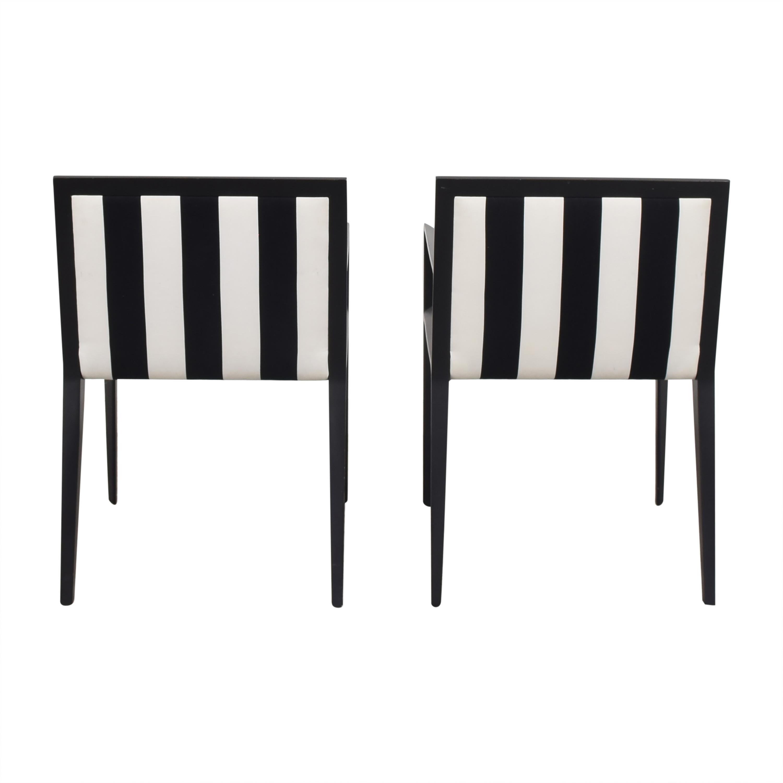Bernhardt Bernhardt Custom Graphic Whisper Arm Chairs