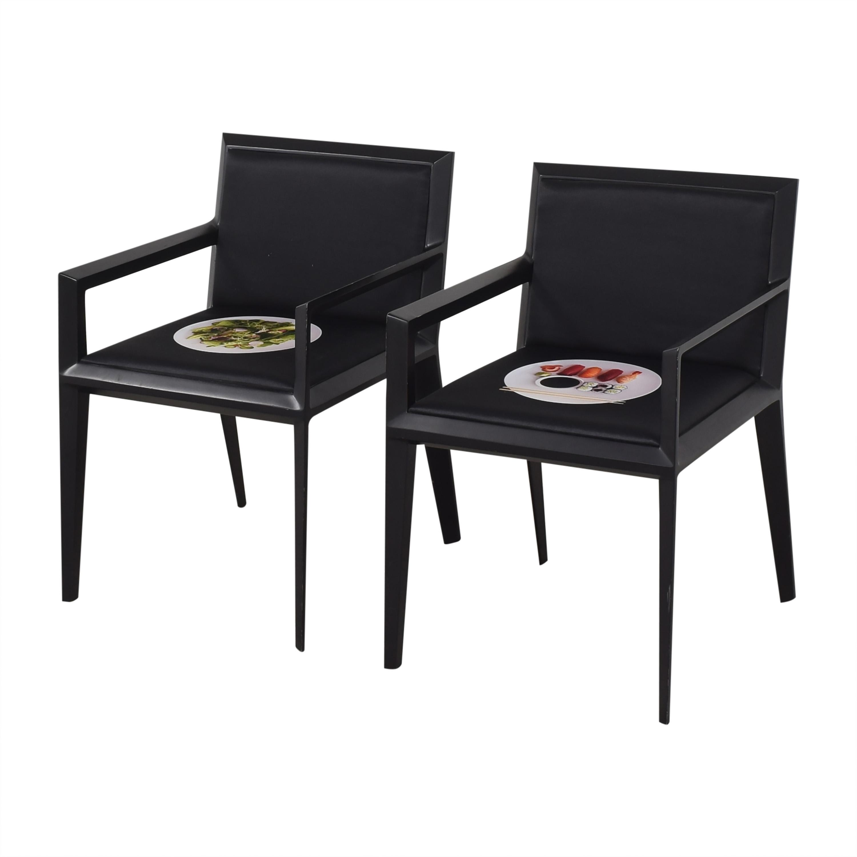 Bernhardt Bernhardt Custom Graphic Whisper Arm Chairs Chairs