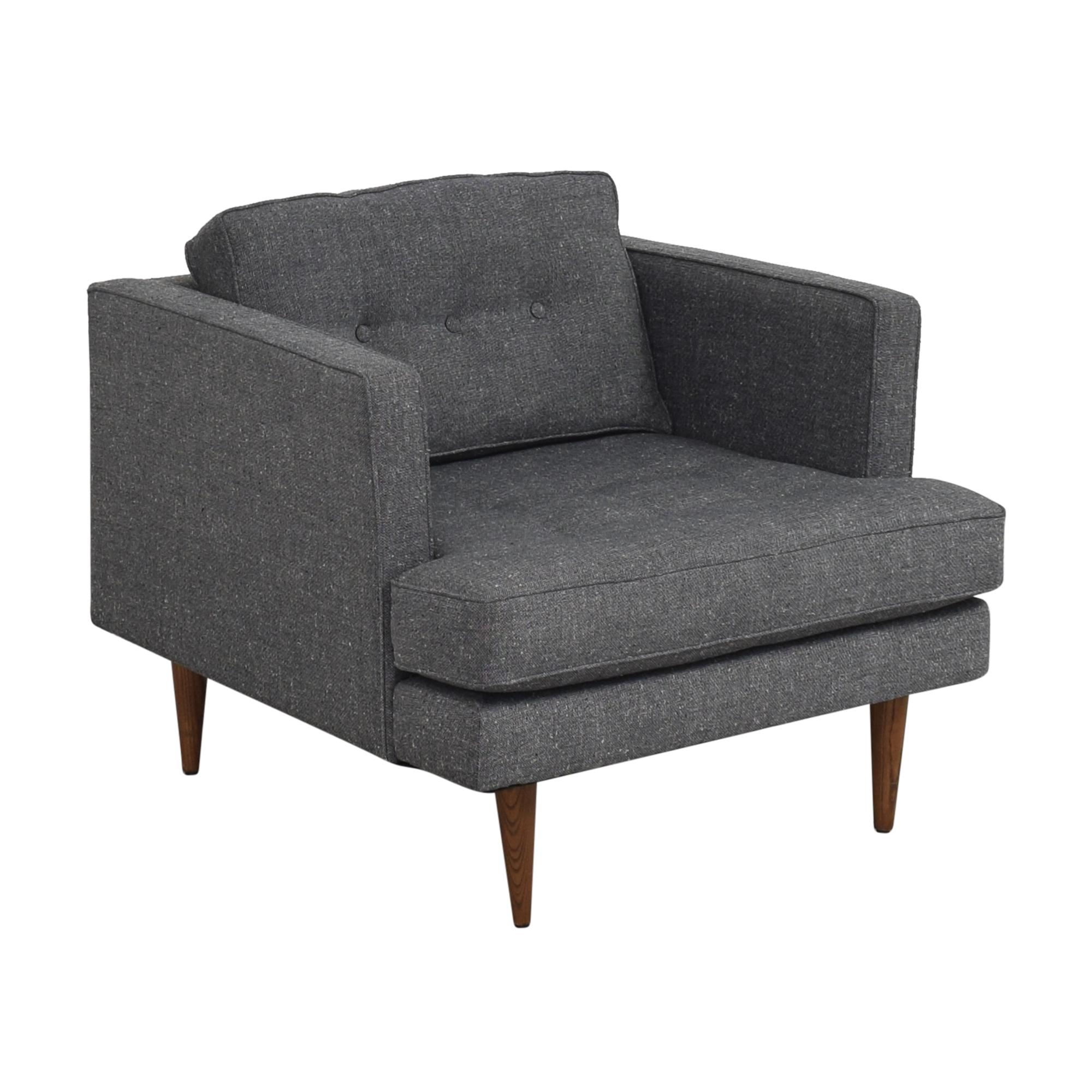 buy West Elm Peggy Mid-Century Armchair West Elm Chairs