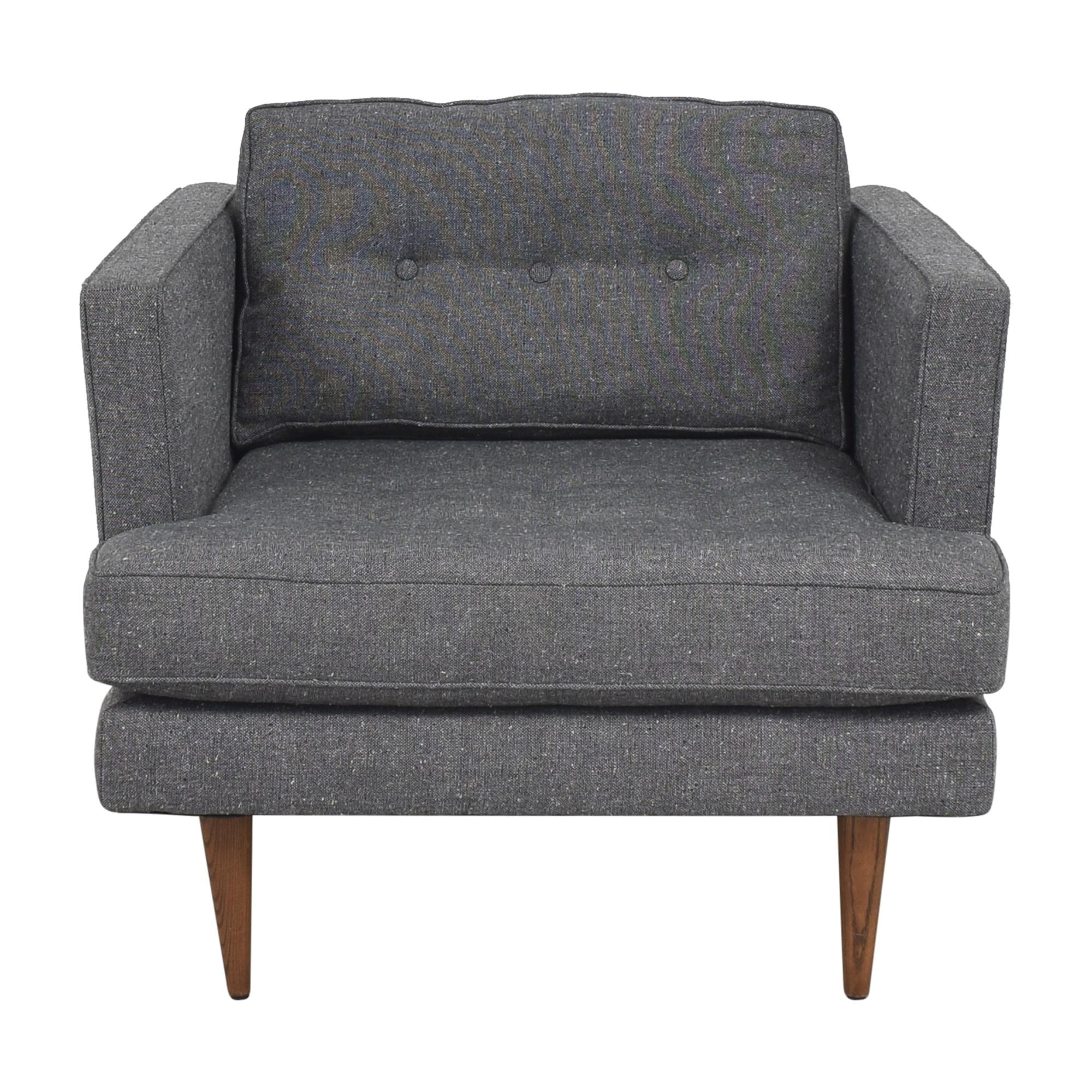 shop West Elm Peggy Mid-Century Armchair West Elm Accent Chairs