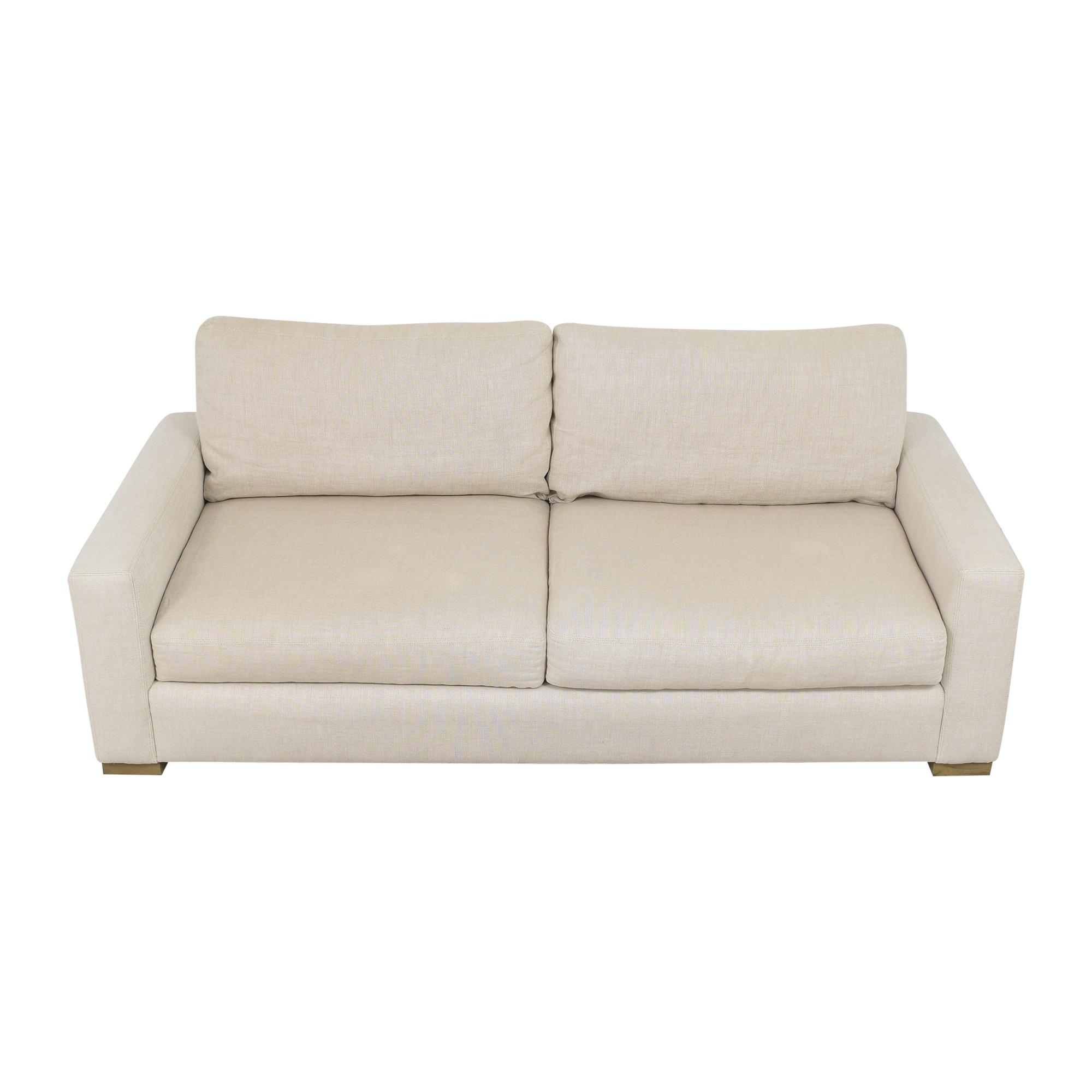 Restoration Hardware Restoration Hardware Two Cushion Sofa discount