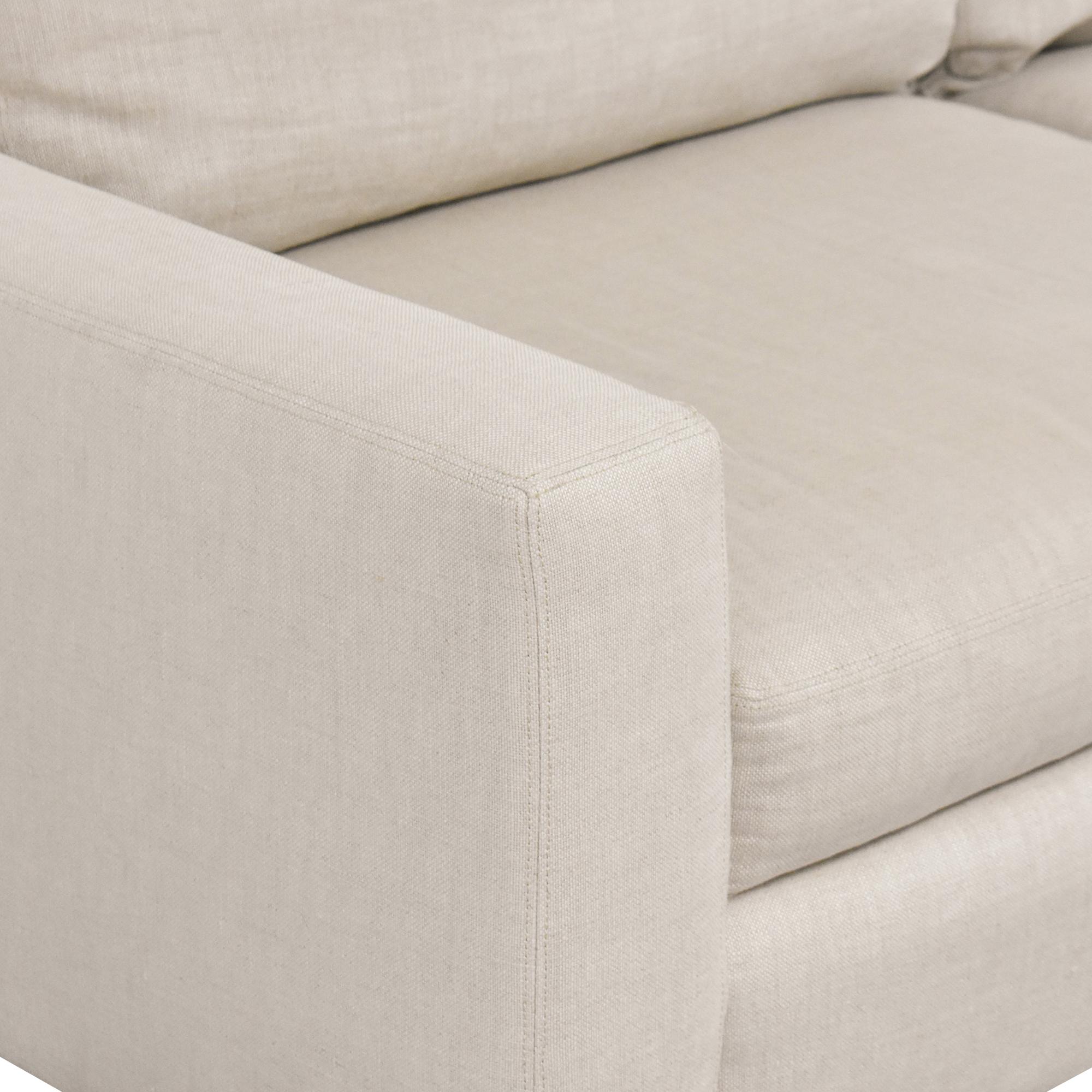 Restoration Hardware Restoration Hardware Two Cushion Sofa used