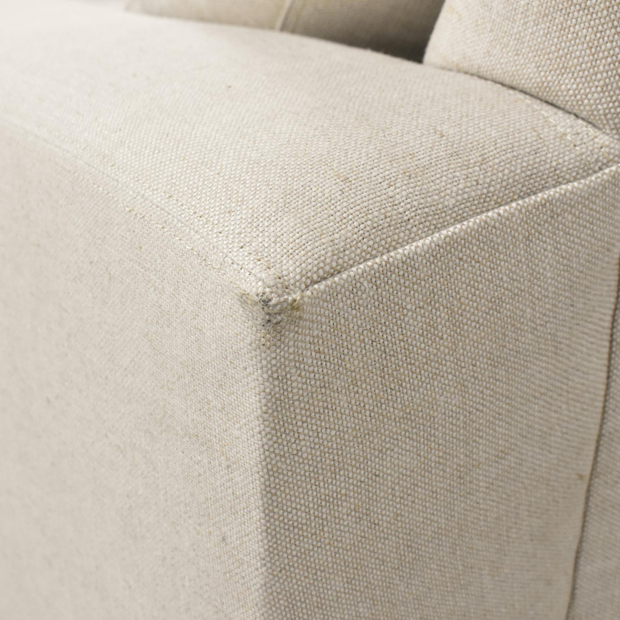 Restoration Hardware Restoration Hardware Two Cushion Sofa nyc