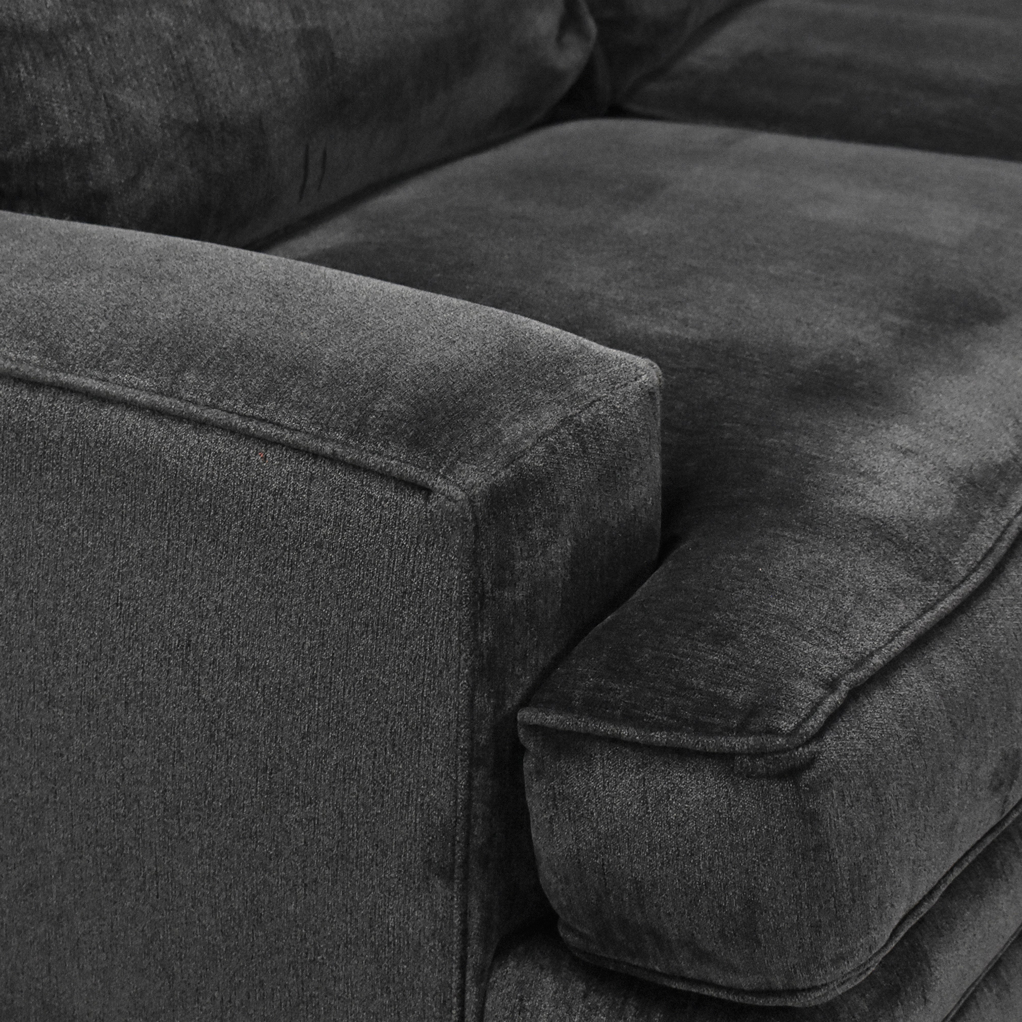Macy's Macy's Teddy Four Piece Chaise Sectional Sofa dimensions