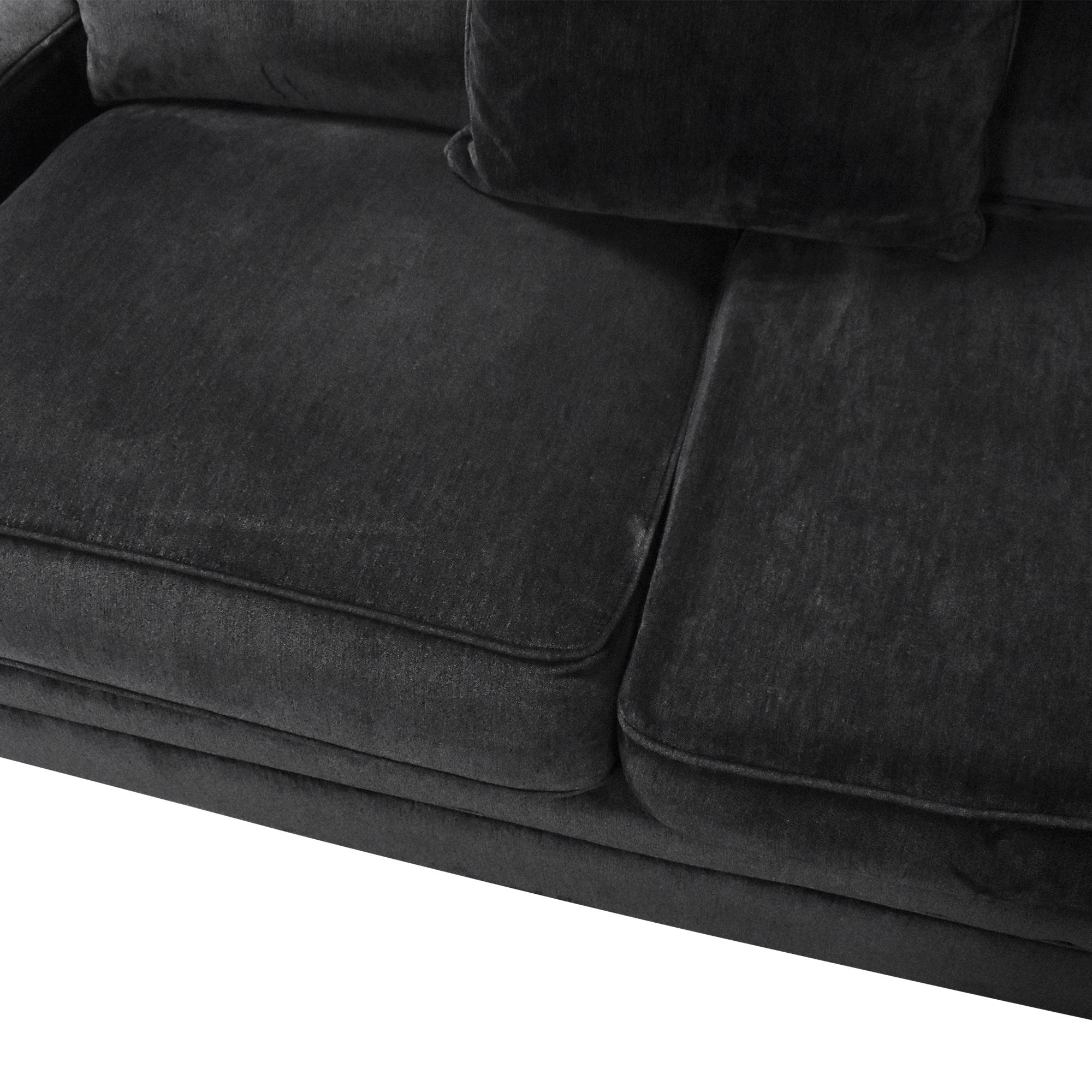 Macy's Teddy Four Piece Chaise Sectional Sofa sale