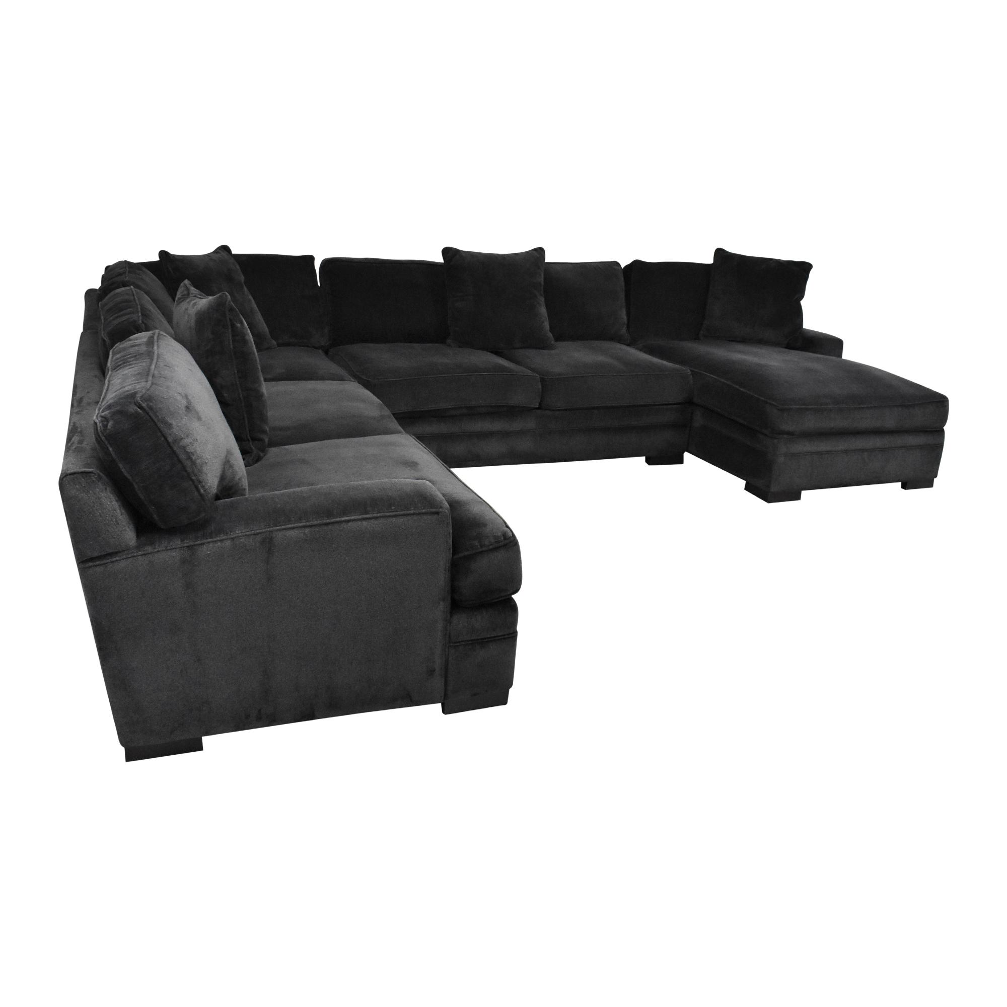 Macy's Macy's Teddy Four Piece Chaise Sectional Sofa for sale