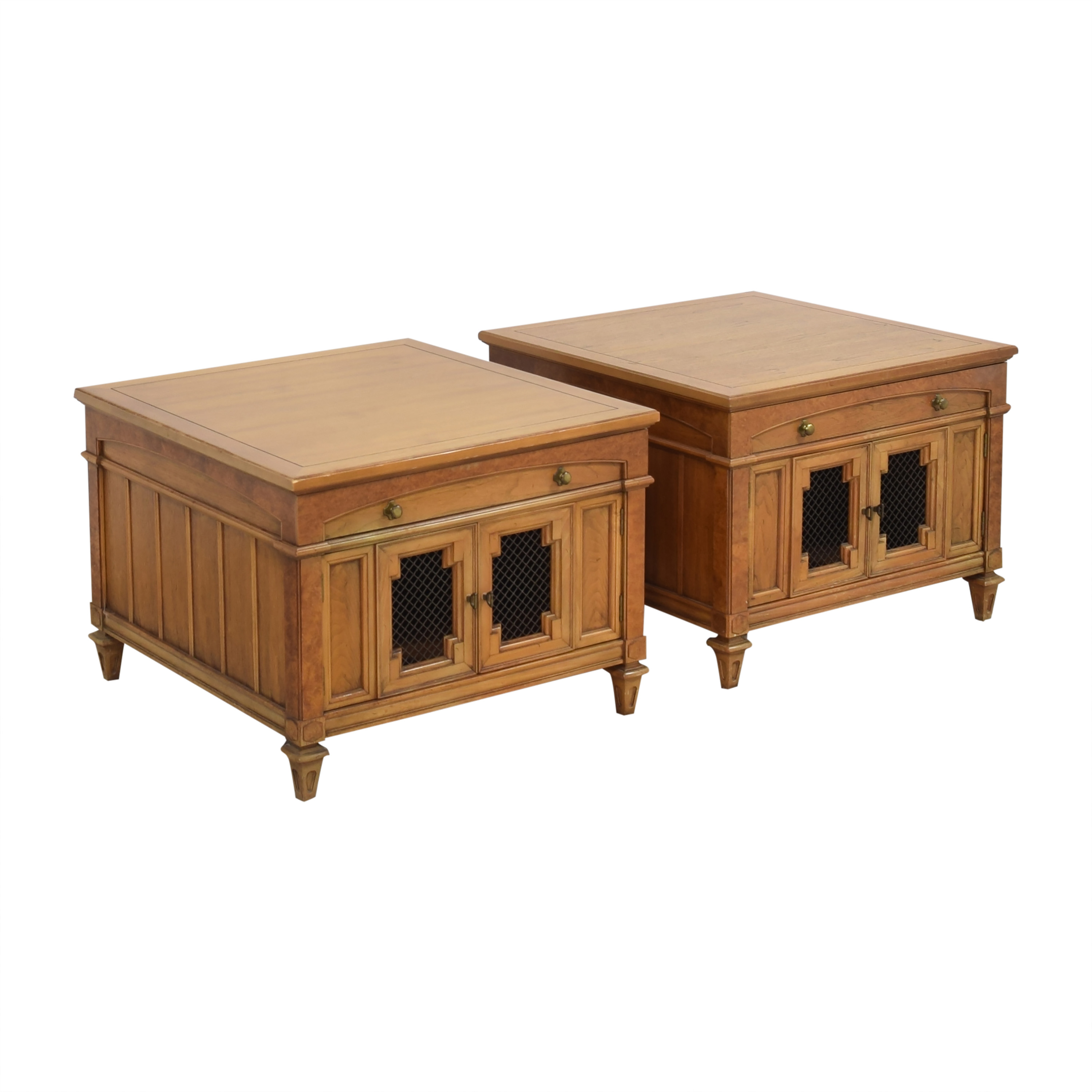 shop Thomasville Two Door End Tables Thomasville Tables