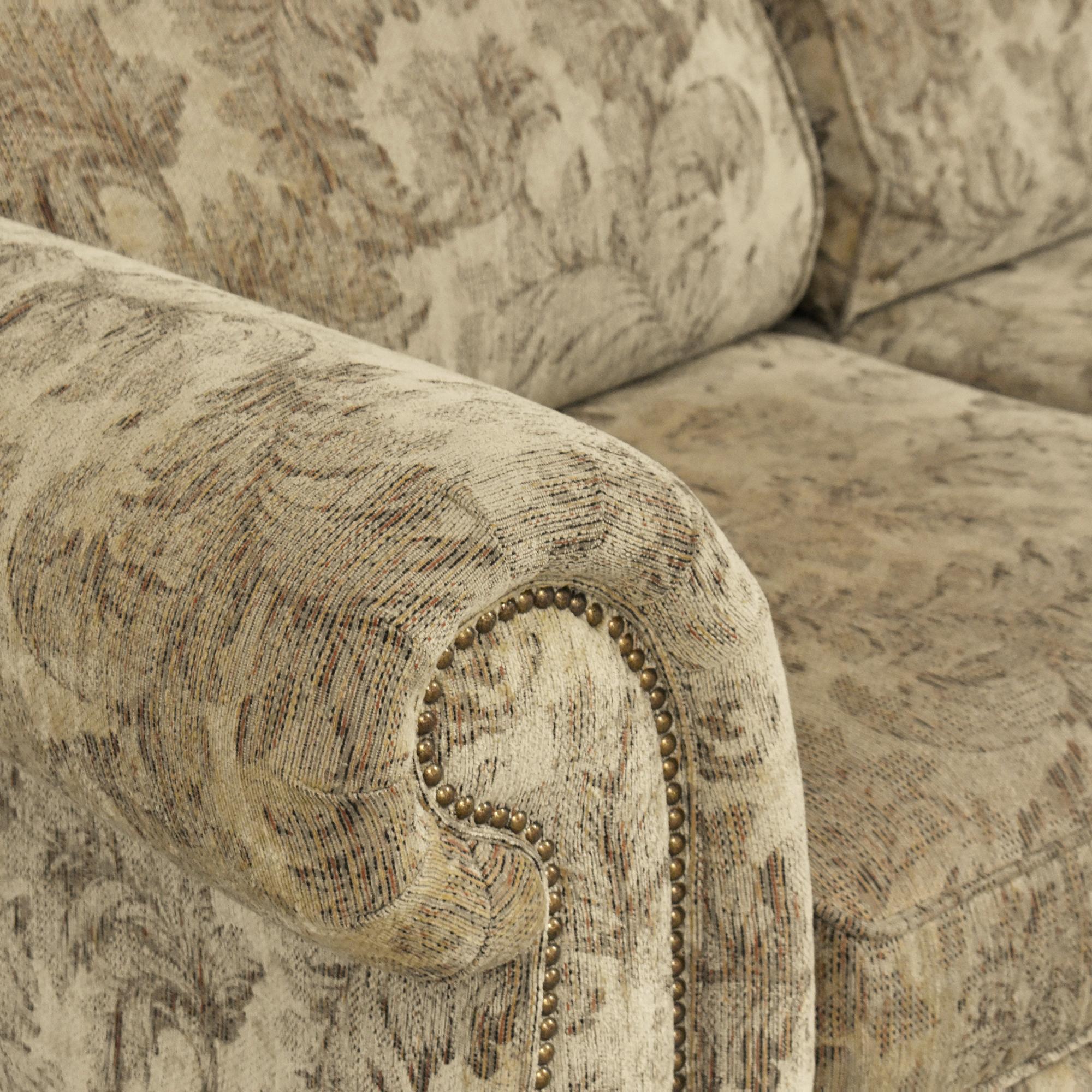 Jackson Furniture Jackson Furniture Roll Arm Nailhead Sofa nyc
