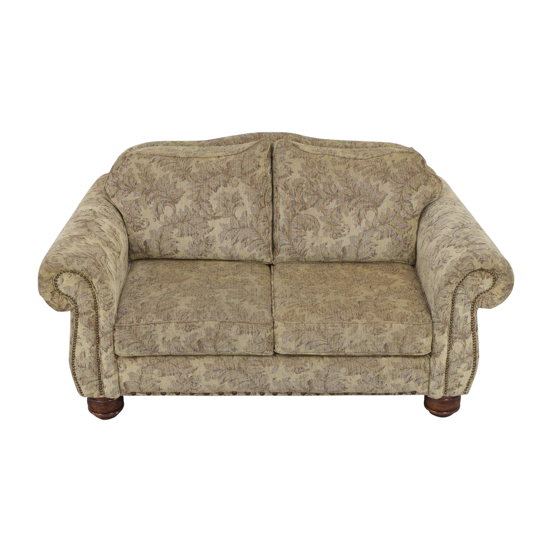 shop Jackson Furniture Roll Arm Nailhead Loveseat Jackson Furniture