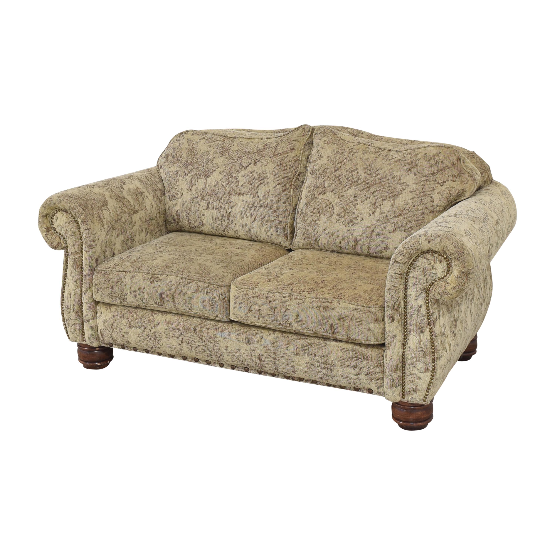 Jackson Furniture Jackson Furniture Roll Arm Nailhead Loveseat dimensions