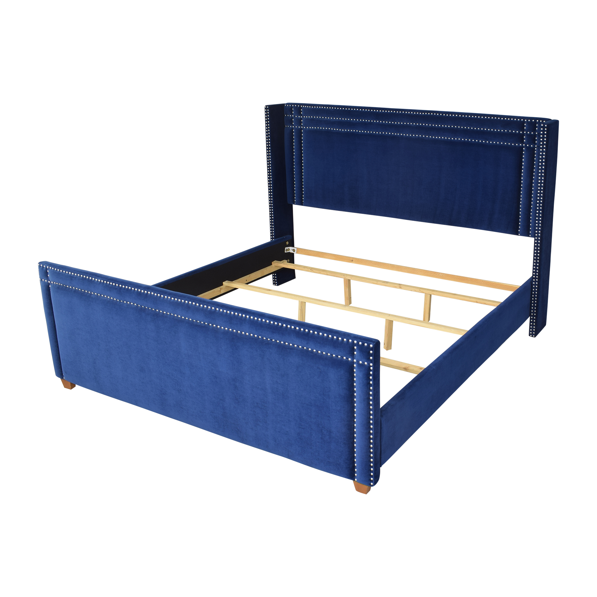 Wayfair Wayfair Willa Arlo Interiors Janna Upholstered Low Profile King Bed dimensions