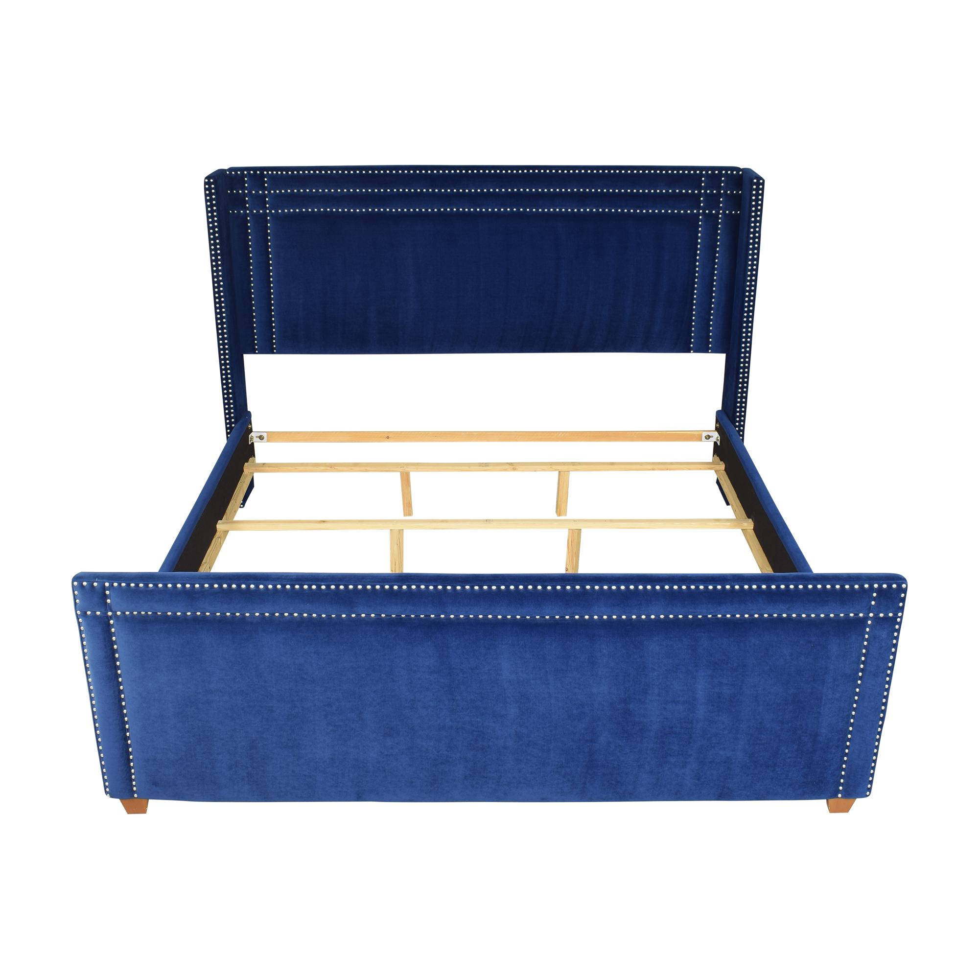 Wayfair Wayfair Willa Arlo Interiors Janna Upholstered Low Profile King Bed nj