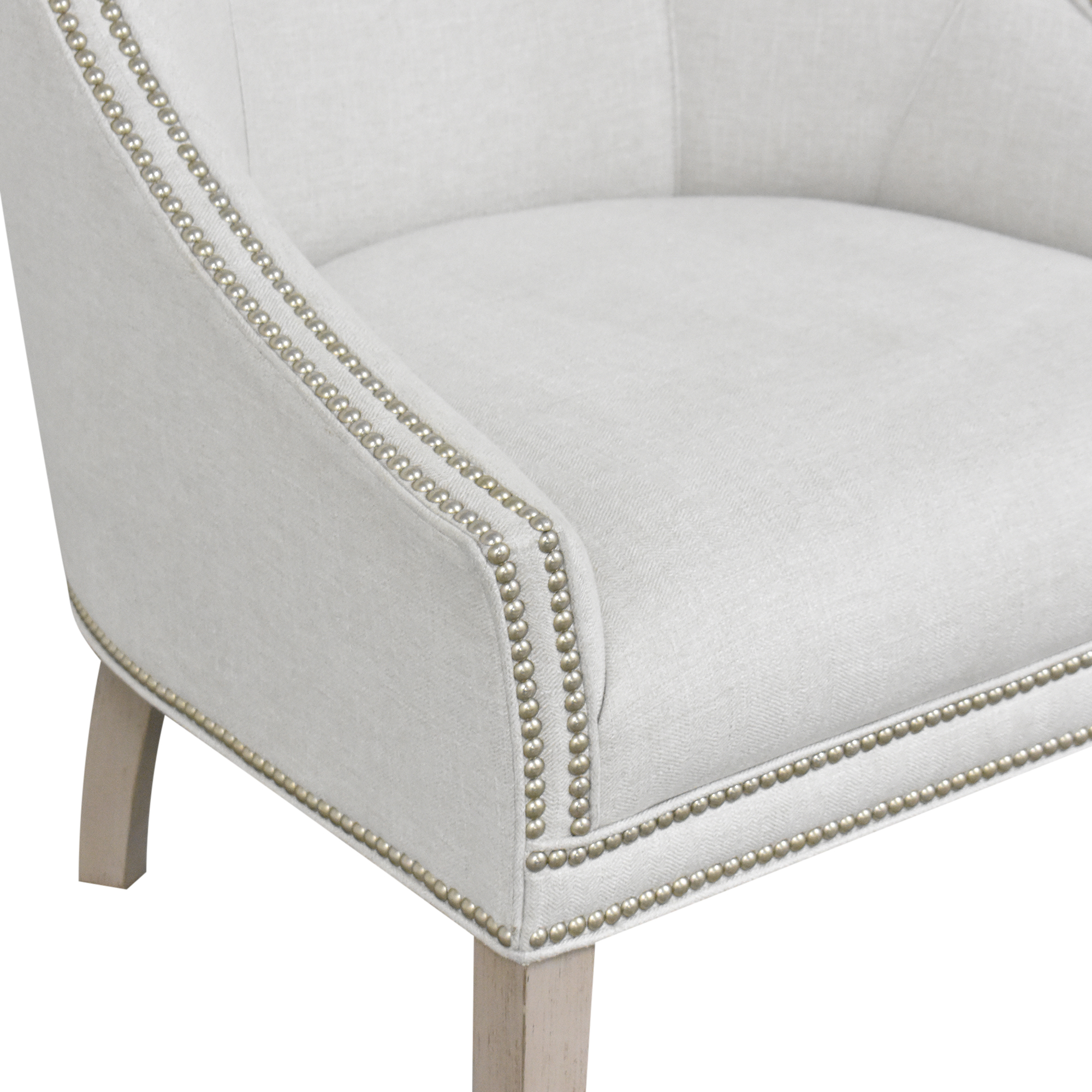 Hickory White Nailhead Wing Chair Hickory White