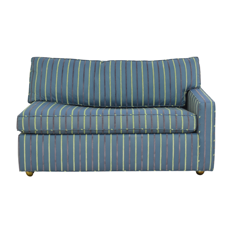 Carlyle Carlyle Striped Single Arm Sleeper Sofa nj