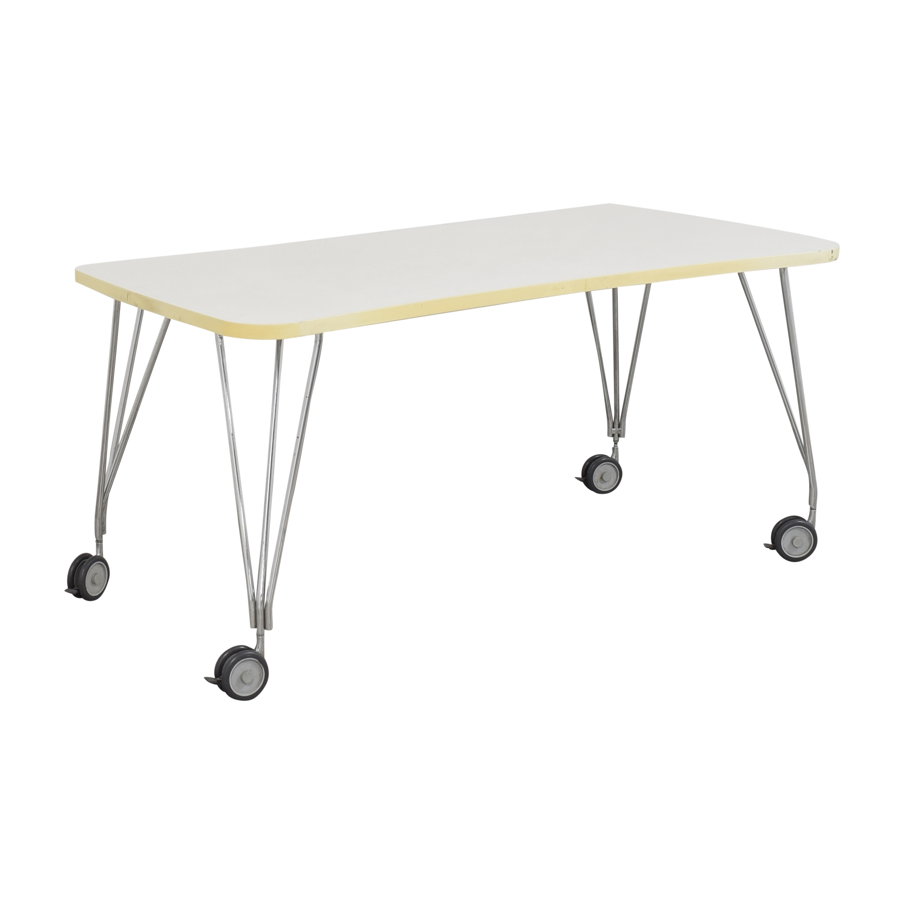 Kartell Kartell Max Table with Wheels dimensions