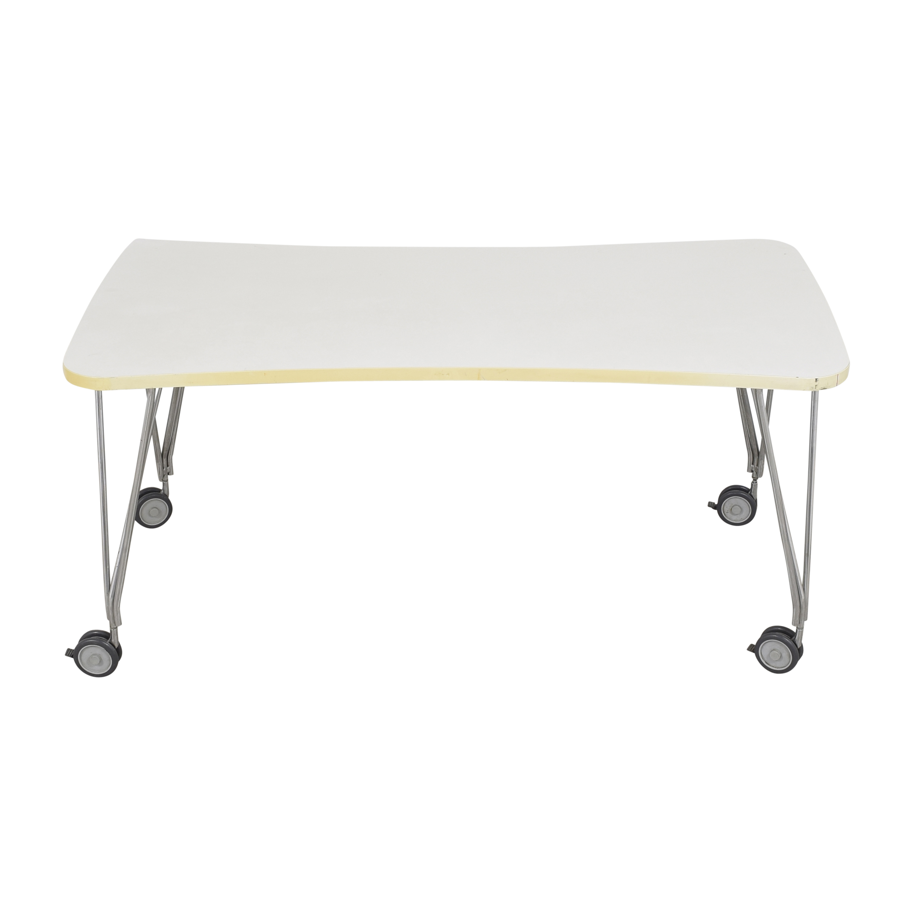 Kartell Kartell Max Table with Wheels white