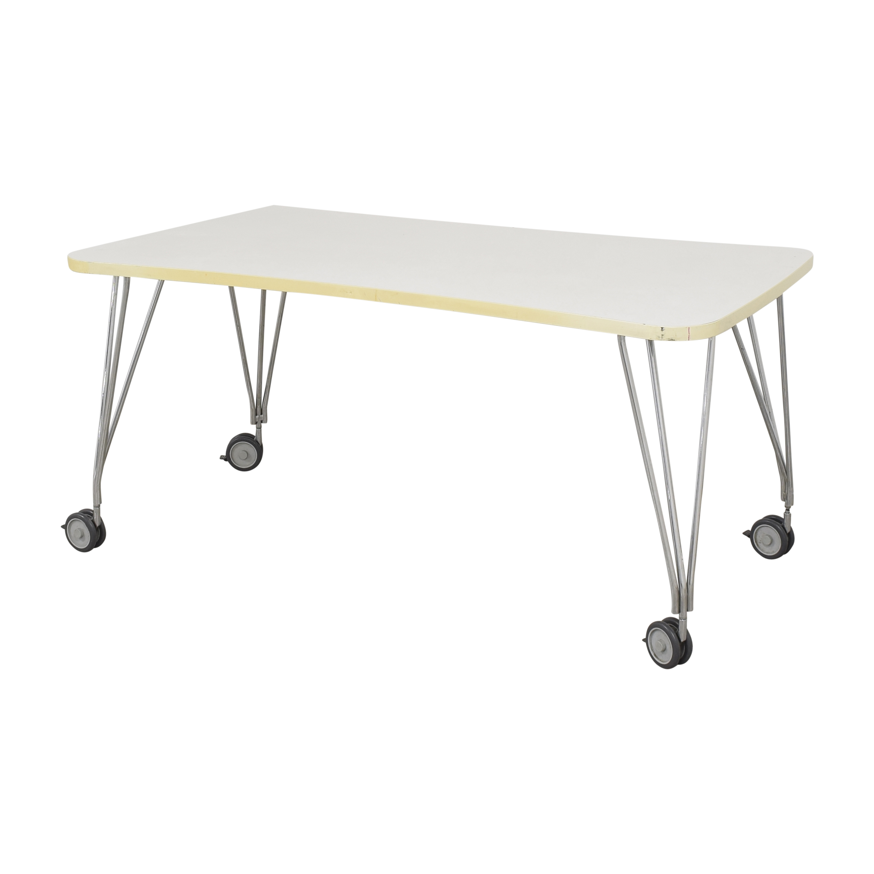 buy Kartell Max Table with Wheels Kartell