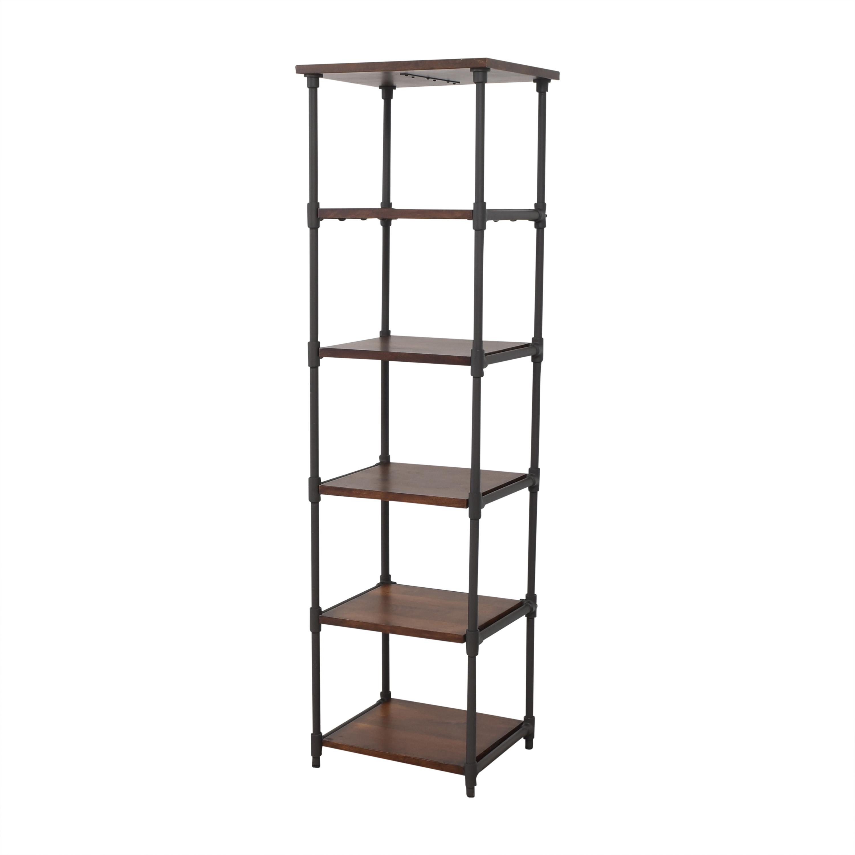 West Elm West Elm Pipe Narrow Bookcase brown & black
