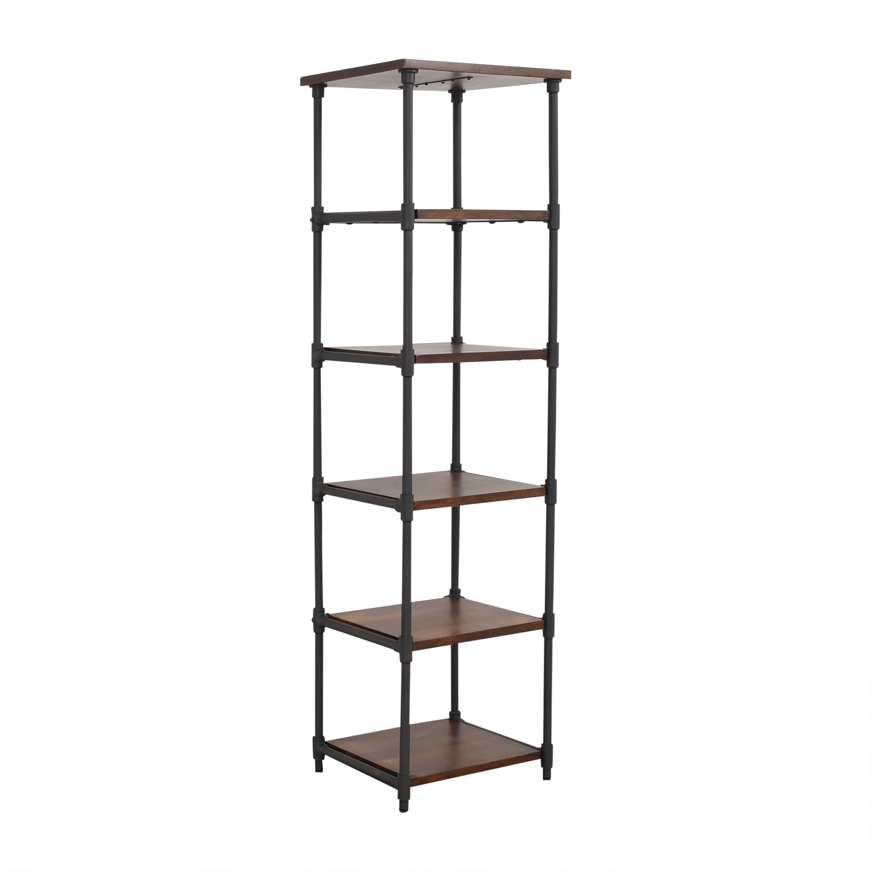 shop West Elm Pipe Narrow Bookcase West Elm Storage