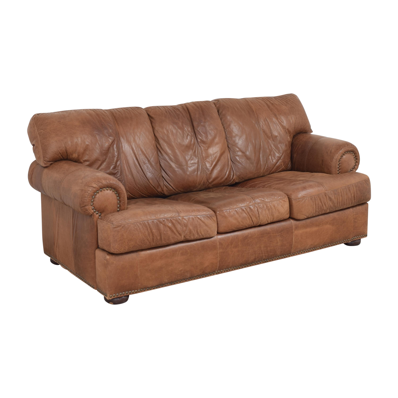 Leather Mart Leather Mart Roll Arm Sleeper Sofa ma
