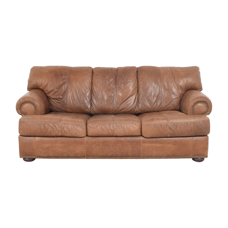 Leather Mart Leather Mart Roll Arm Sleeper Sofa