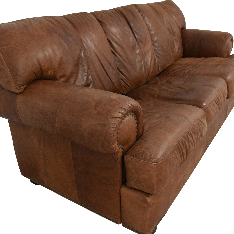 Leather Mart Leather Mart Roll Arm Sleeper Sofa Sofa Beds