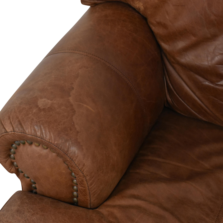 Leather Mart Roll Arm Sleeper Sofa / Sofas