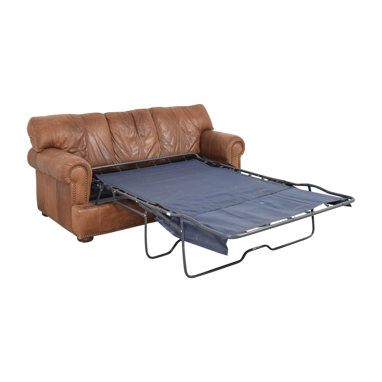 Leather Mart Leather Mart Roll Arm Sleeper Sofa nj
