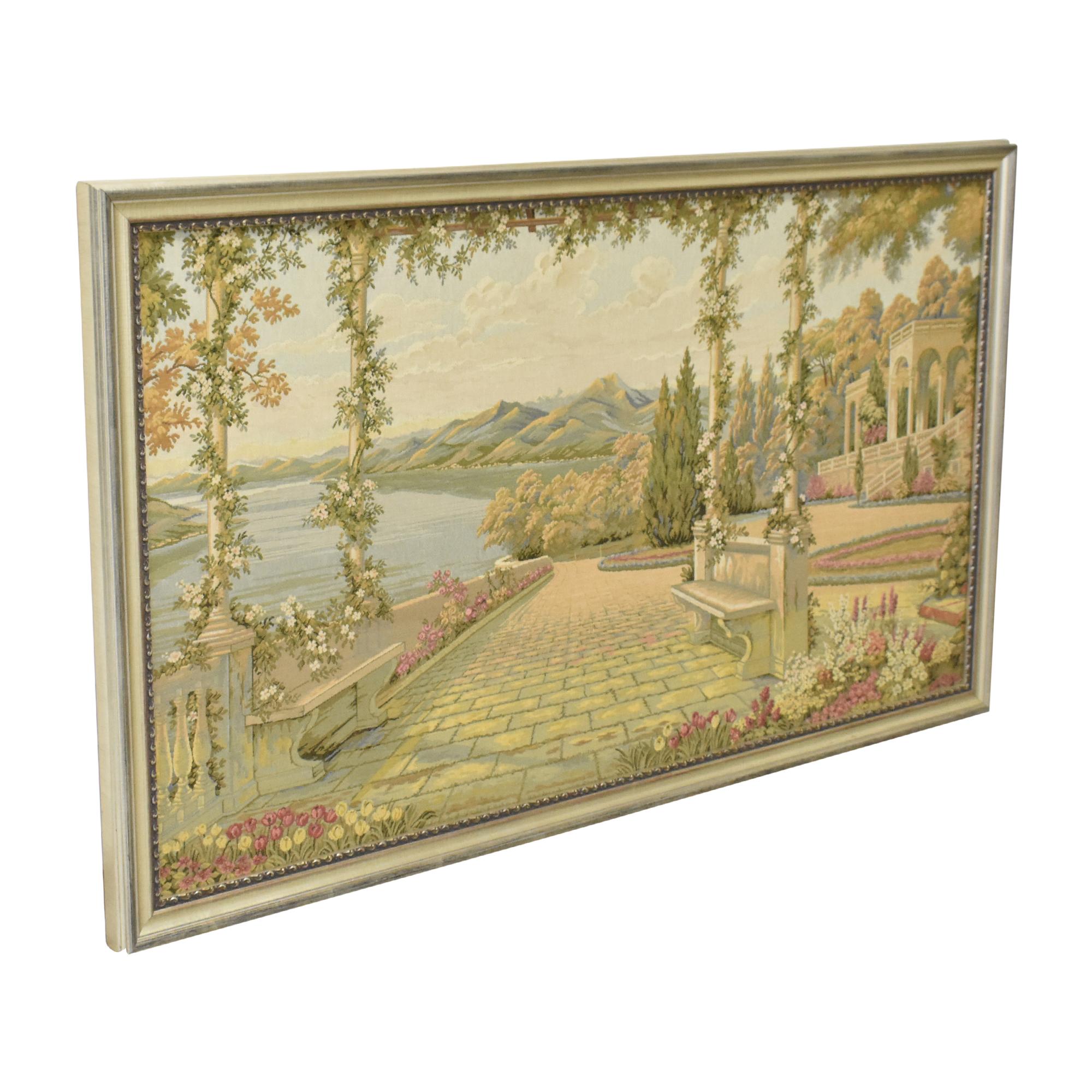 Framed Lake Como Tapestry ma