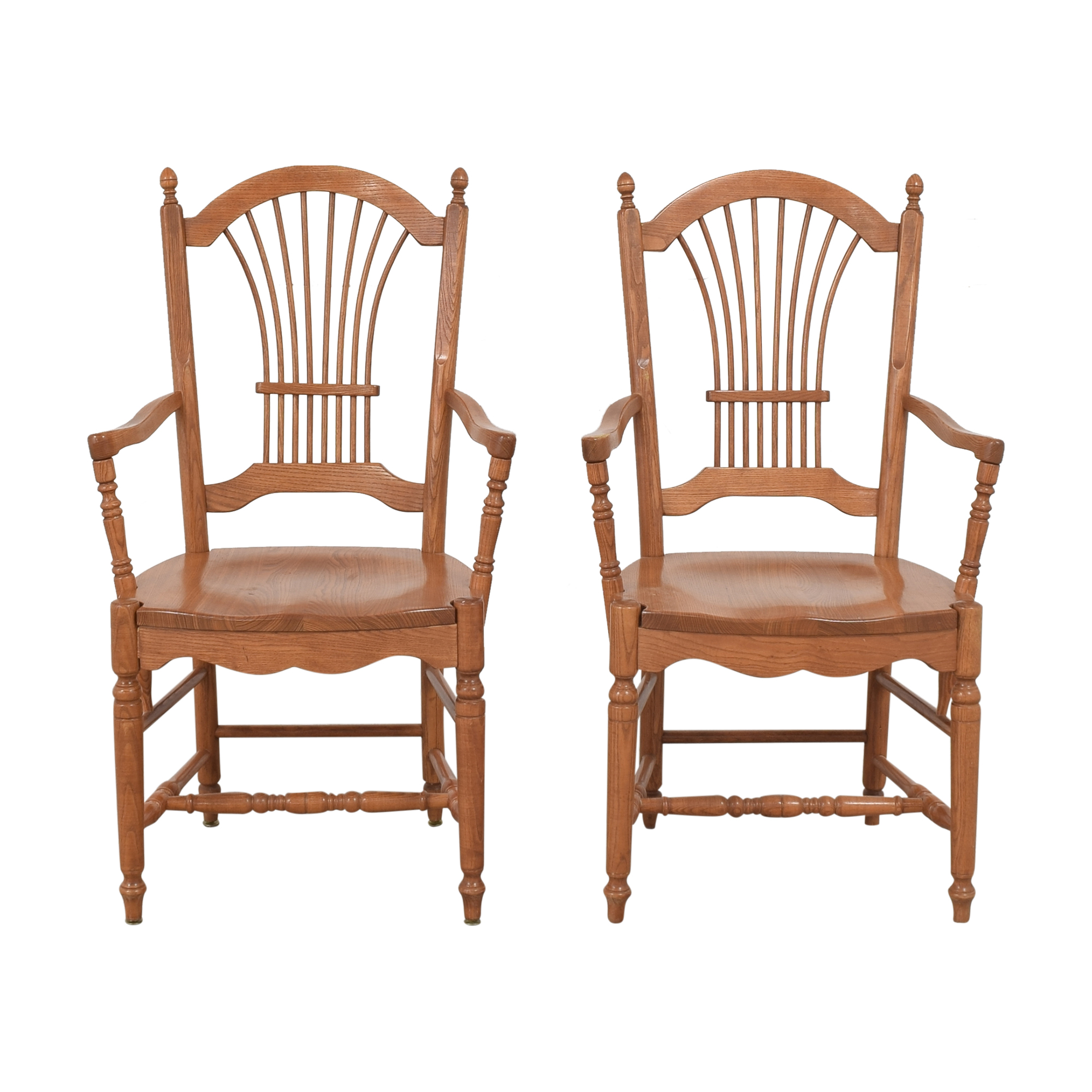 Pennsylvania House Pennsylvania House Sheaf Back Dining Arm Chairs for sale