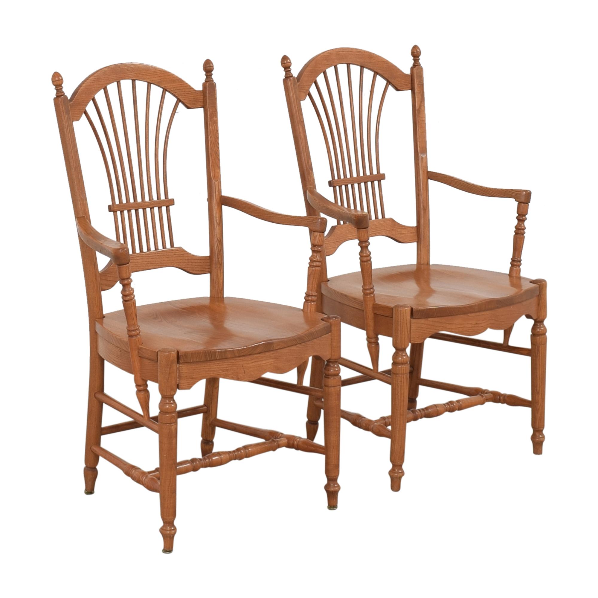 Pennsylvania House Pennsylvania House Sheaf Back Dining Arm Chairs Dining Chairs