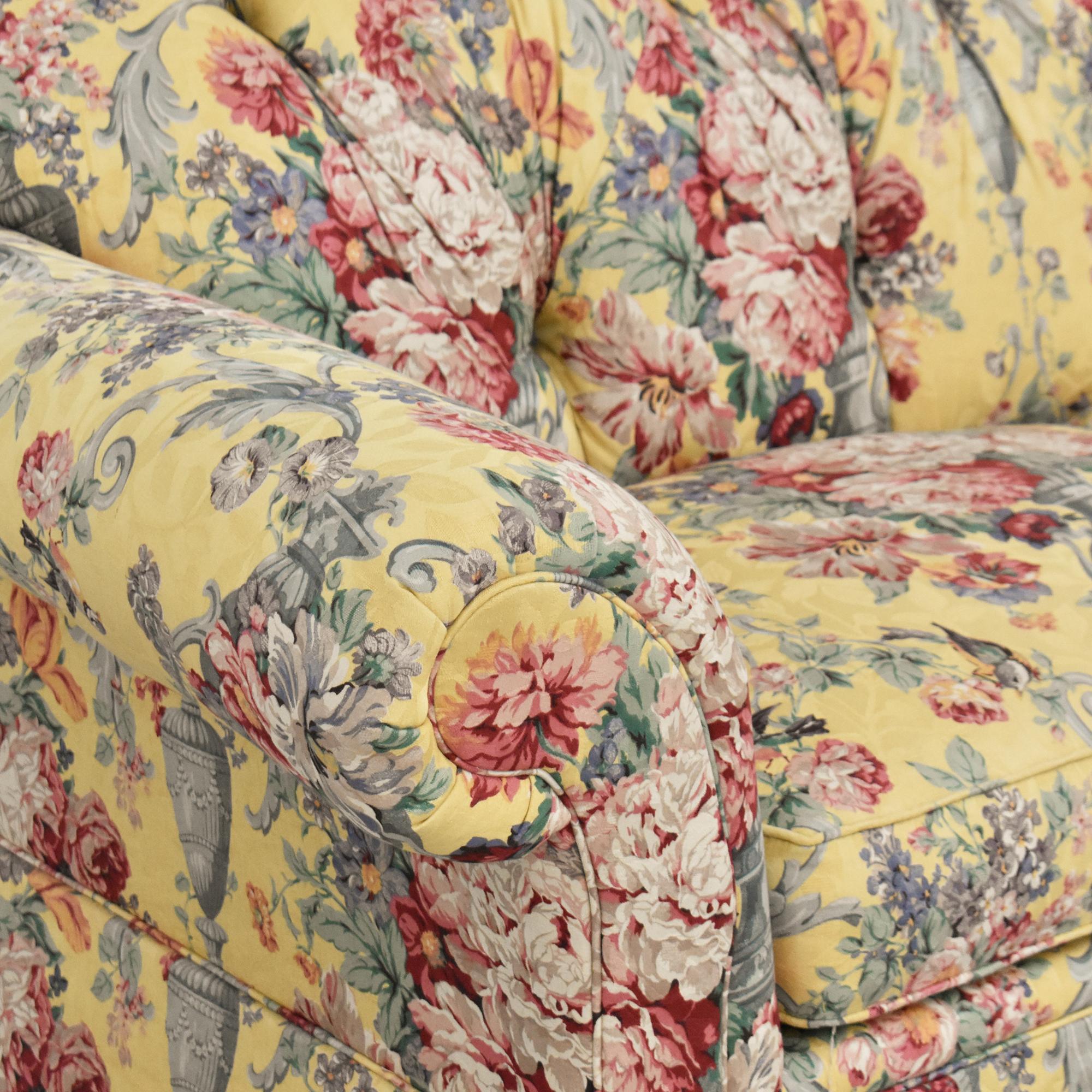 buy Lexington Floral Skirted Sofa Lexington Furniture Classic Sofas