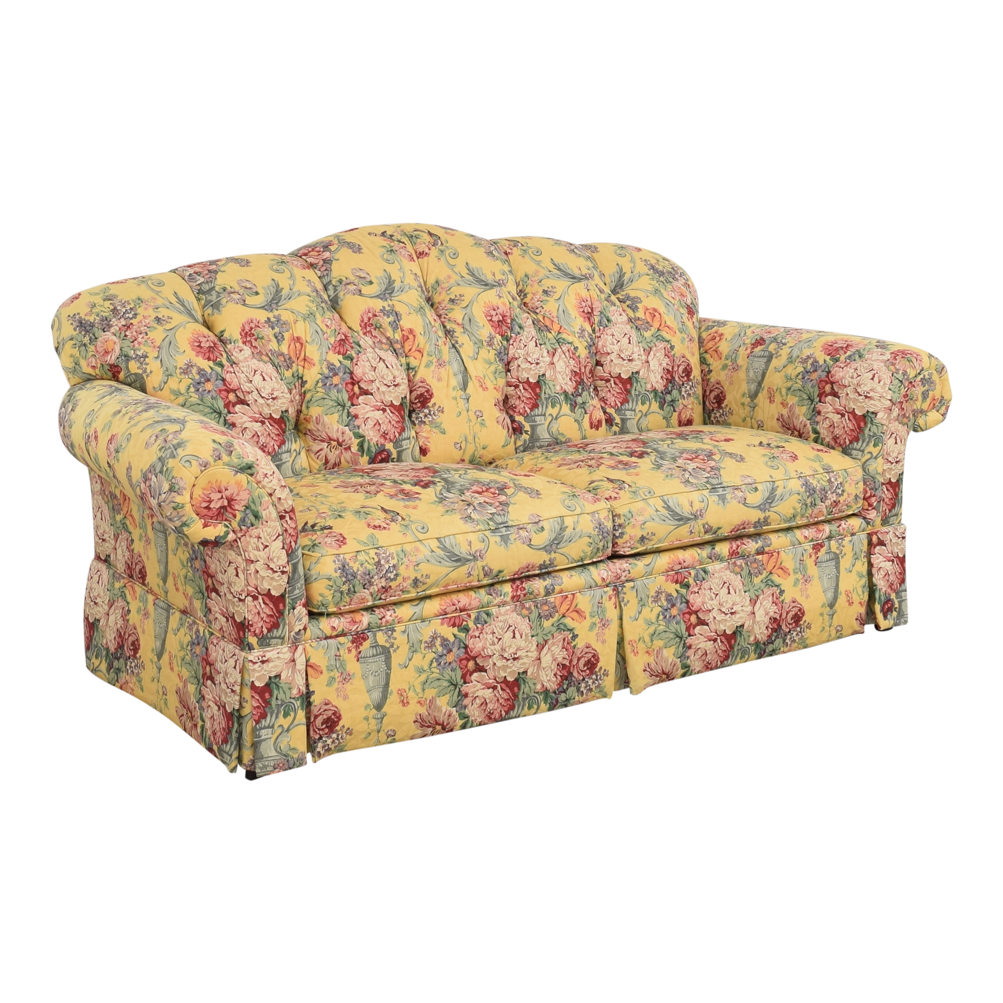 Lexington Furniture Lexington Floral Skirted Sofa Sofas