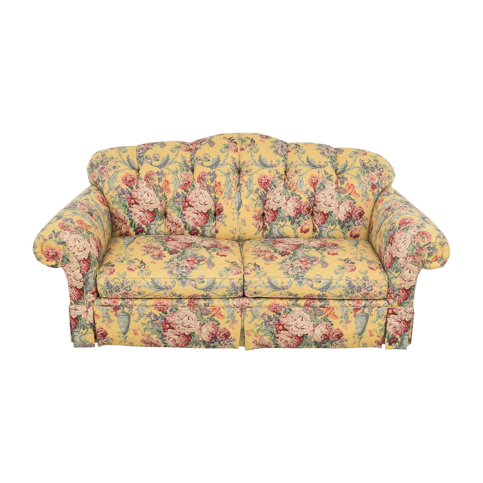 shop Lexington Floral Skirted Sofa Lexington Furniture