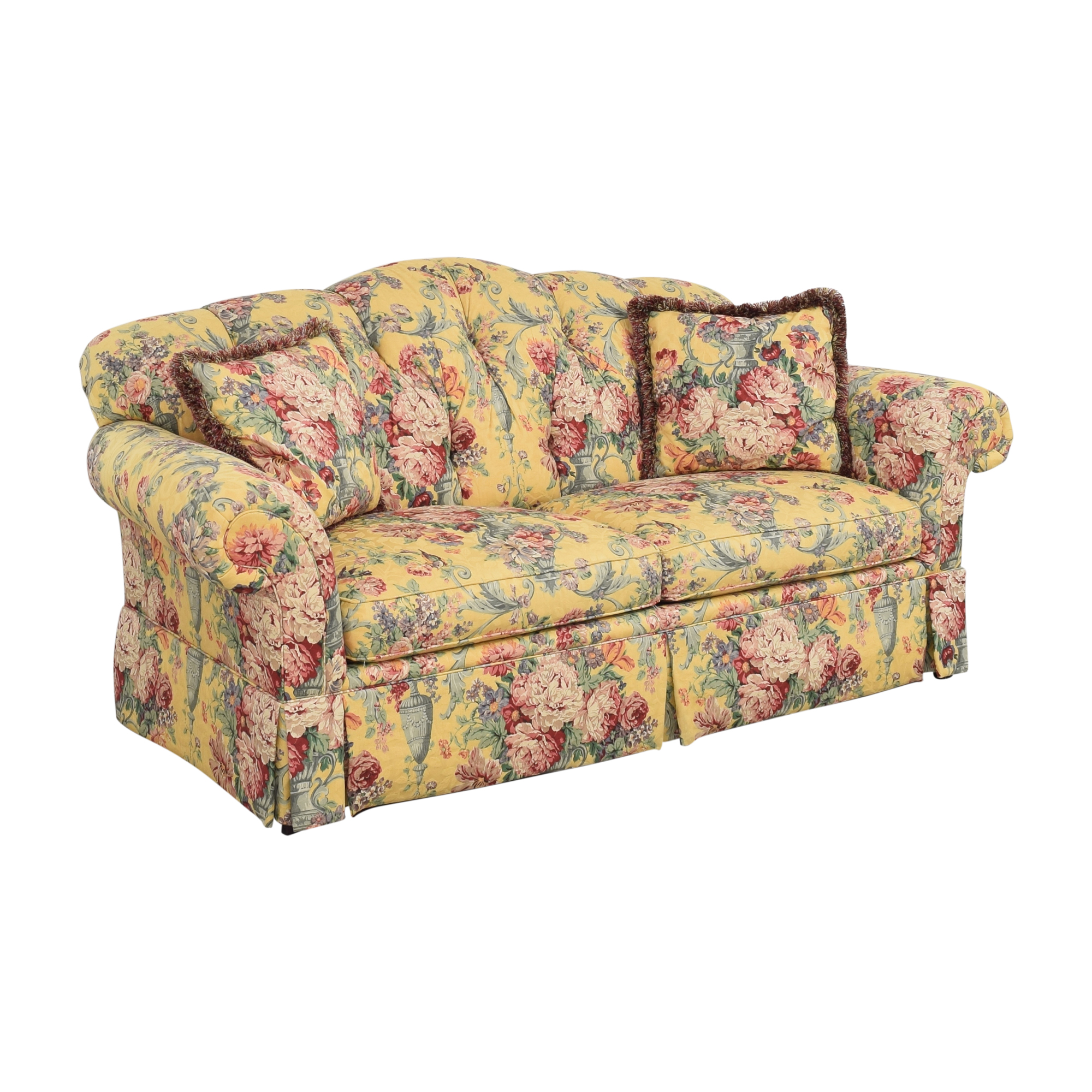 Lexington Furniture Lexington Floral Skirted Sofa Classic Sofas